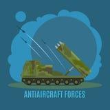 Antiaircraft force illustration Stock Photos