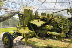 Antiaircraft gun. In battle park, amoy city, china Stock Photography