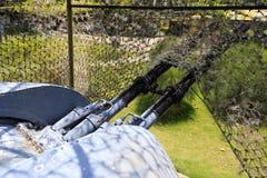 Antiaircraft gun in battle park, amoy city Stock Photography