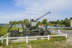 Antiaircraft gun. At Pegasus bridge Royalty Free Stock Photos