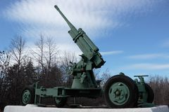 Antiaircraft gun Stock Photos