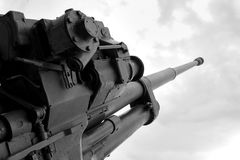 Antiaircraft installation of the Second World War. A Royalty Free Stock Photography