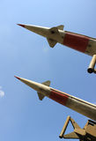 Antiaircraft  missile. Against blue sky Royalty Free Stock Images
