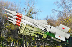 Antiaircraft missile.Retro weaponry Stock Image