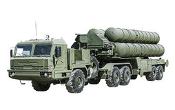 Antiaircraft missile system (AAMS) large and medium-range. Russian-made. focus on the cockpit cars Royalty Free Stock Image