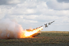 Antiaircraft missile system Royalty Free Stock Image
