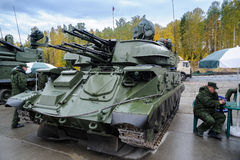 Antiaircraft missile system ZSU-23-4M4 Shilka-M4 Royalty Free Stock Image