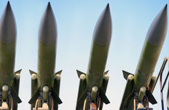 Antiaircraft missiles Stock Photography