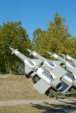 Antiaircraft rockets. Aimed to the sky Royalty Free Stock Photography