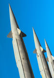 Antiaircraft rockets of a surface-to-air missile system Royalty Free Stock Photos
