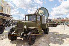 Antiaircraft searchlight. Pyshma, Ekaterinburg, Russia - August Royalty Free Stock Photography