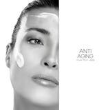 Antialtern-und Schönheits-Konzept Badekurort - 7 Schablonendesign Lizenzfreie Stockfotografie