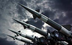 Antiarcraft rockets Royalty Free Stock Image