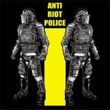 ANTIaufstand POLICE3 Stockfotografie