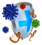 Antibacterial or Anti Virus Shield Stock Images