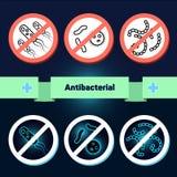 Antibacterial beläggningssterilisering vektor illustrationer