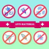 Antibacterial beläggningssterilisering stock illustrationer