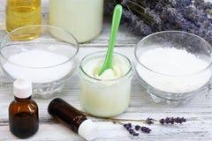 Antibacterial i naturalny domowej roboty dezodorant Fotografia Royalty Free