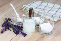 Antibacterial  and natural homemade deodorant Stock Photography
