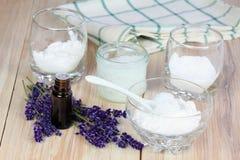 Antibacterial och naturlig hemlagad deodorant Fotografering för Bildbyråer