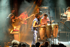 Antibalas (afrobeat band) performance at Heineken Primavera Sound 2014 Festival Royalty Free Stock Images