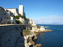 Antibes. Picaso museum in Antibes on the coast of mediterian see Royalty Free Stock Photo