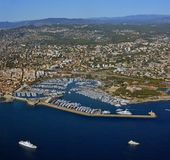 Antibes Aerial View, Cote d`Azur Provence France stock photo