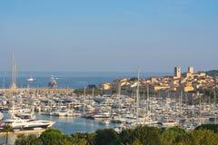 Antibes auf dem französischen Riviera lizenzfreies stockfoto