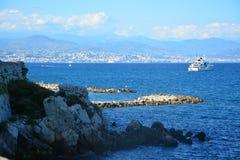 Antibes - ` Azur France för skjul D Arkivbilder