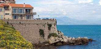Antibes - Cityscape and mediterranean coast Stock Photo