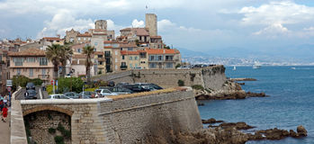 Antibes - Cityscape and mediterranean coast Royalty Free Stock Images