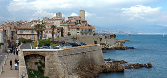 Antibes - Cityscape and mediterranean coast Royalty Free Stock Photos