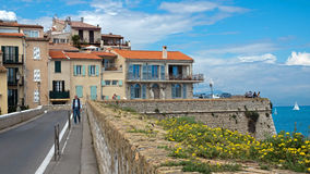 Antibes - Cityscape and mediterranean coast Stock Image