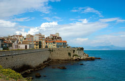 Antibes - Cityscape and mediterranean coast Royalty Free Stock Image