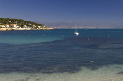 Antibes Coast. The coast near Antibes, southern France royalty free stock photos