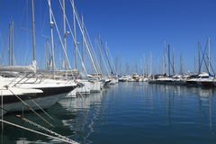 ANTIBES, FRANCE - AUG 27, 2014: Boats, Yacht of Port Vauban Stock Image