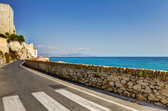 Antibes, France road near the waterfront. Royalty Free Stock Image