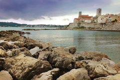 Antibes - France. Town of Antibes - French Riviera, France Royalty Free Stock Photo