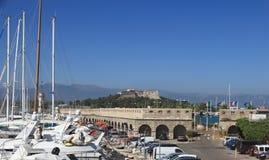 ANTIBES FRANCJA, AUG, - 27, 2014: forteca Portowy Vauban Fotografia Stock