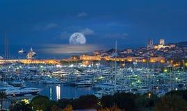Antibes franska Riviera, skjul D Azur Royaltyfri Fotografi