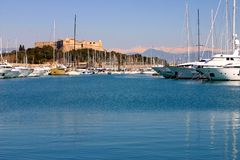 Antibes harbor Royalty Free Stock Image