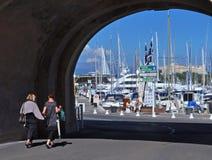 Antibes-Jachthafen, Taubenschlag d'Azur, Frankreich Lizenzfreie Stockbilder