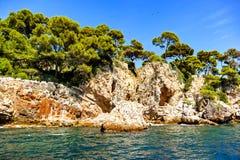 Antibes linia brzegowa, Francja Fotografia Royalty Free