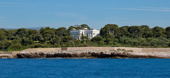 Antibes - Luxury villa on the shores of the Mediterranean Sea Stock Images