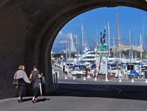 Antibes Marina, Cote d'Azur, France Royalty Free Stock Images