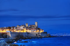 Antibes by night. Stock Image