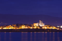 Antibes at night stock images