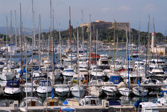 antibes port Royaltyfri Bild