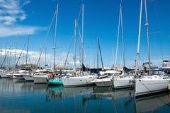 Antibes - Sail boats Royalty Free Stock Photo