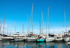 Antibes - Sail boats Royalty Free Stock Photography
